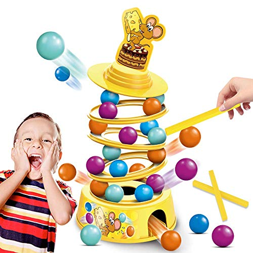kidpal Board Game for Kids Ages 4-8, Family Games with Kids, Stacking Game for Adults and Child, Tumbling Toys for Age 5 6 7 9 10 Years Old up Boys & Girls, Educational Game Toys for Children