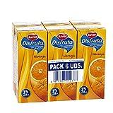 JUVER néctar naranja sin azucares añadidos pack 6 unidades 200 ml