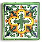 テラコッタ おしゃれ タイル S メキシコ製 メキシカンタイル 十字架 クロス 5×5㎝