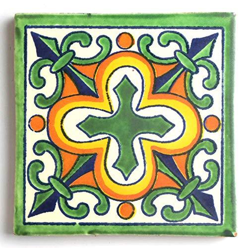 テラコッタ おしゃれ タイル S メキシコ製 メキシカンタイル 十字架 クロス 5×5�p