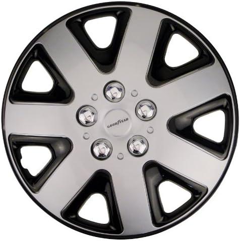 Goodyear 75513 Radzierblenden Flexo Radkappen 13 Zoll Silber Schwarz 4 Stück Flexibles Material Für Den Perfekten Alufelgen Look Auto