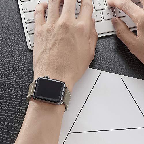 LOVLEOP コンパチブル Apple Watch バンド トップレザー交換用ストラップ