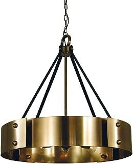 Framburg Lighting 5298 AB/MBlack Lasalle - Eight Light Dining Chandelier, Antique Brass/Matte Black Finish
