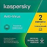 kaspersky anti-virus 2021   2 pcs   1 anno   pc   codice d'attivazione via email