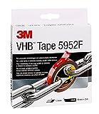3M VHB Cinta Adhesiva 5952F - óptima adhesión a la mayoría de las pinturas en polvo, metales,...