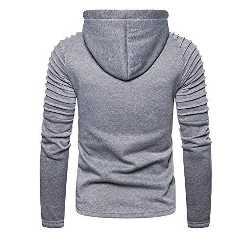 Z&Y Glaa Men Hoodie Fleece Sweatshirt Pullover Long Sleeve Heavyweight Performance Slim Fit Small Big Men's Hooded Long Sleeve Sweatshirt, Classic Olive, X-Large