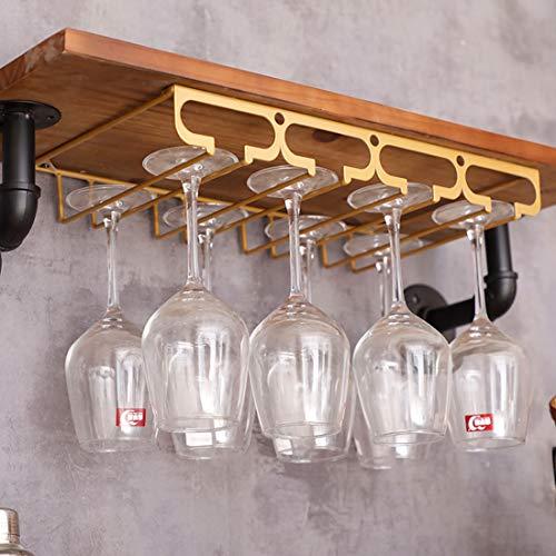 Dittzz Gläserhalter zum Aufhängen Metall Weinglashalter mit 4 Schienen für Bar, Küche, Café,Esstisch
