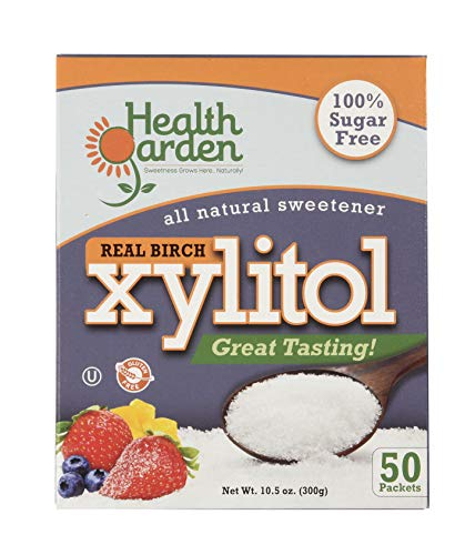 Health Garden Birch Xylitol Sweetener - Non GMO - Kosher - Made in the U.S.A. - Keto Friendly (50 Packets x 3)