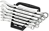 SATA 6-Piece Full-Polish SAE Combination Wrench Set with Offset Box Ends and an Easy-to-Carry Wrench Rack - ST09017SJ