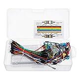 JCCOZ - URG Kit de iniciación de resistencias LED condensador puente Kit de resistencia con caja al por menor para kit de bricolaje URG