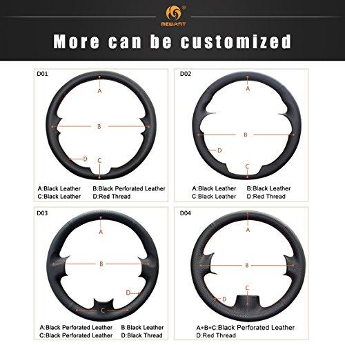 MEWANT Customized Black Microfiber Leather Car Steering Wheel Cover for Hyundai Solaris (RU) 2010-2016 Verna 2010-2016 i20 2009-2015 Accent 2012-2017