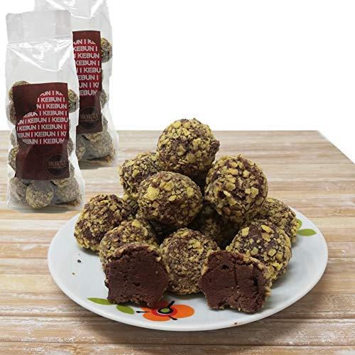 Morra Cioccolati KEBUN cioccolatini fondenti ripieno di crema alla nocciola avvolto in una granella di cereali, SENZA LATTOSIO Prodotto Italiano Artigianale (2 conf)