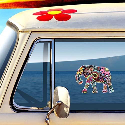 Elephant Sticker Decal by Megan J Designs - Laptop Window Car Vinyl Sticker