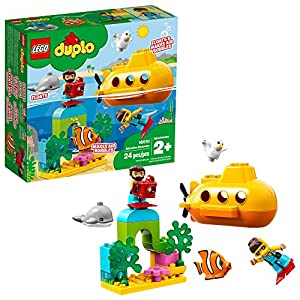 LEGO DUPLO Town Submarine Adventure 10910 Building Kit (24 Pieces) - 5154jXV2K1L - LEGO DUPLO Town Submarine Adventure 10910 Building Kit (24 Pieces)