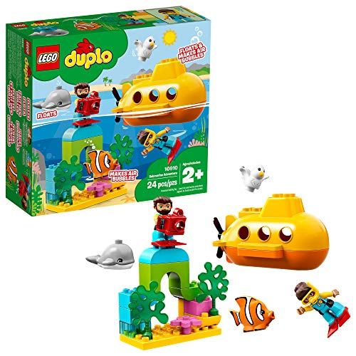 LEGO DUPLO Town Submarine Adventure 10910 Building Kit, New 2019 (24 Pieces)