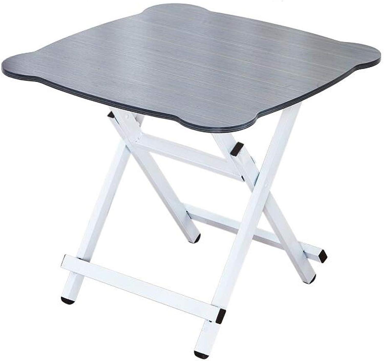 SHWSM Rectangular-Super Tough-Folding Table, Portable and Practical Folding Table, Student Learning Desk, Simple Dining Table Folding Table (color   A)