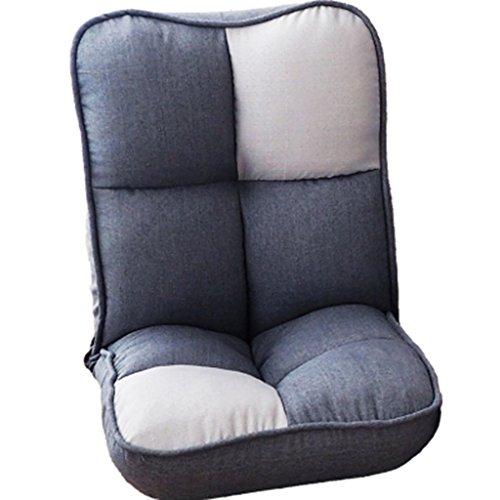 Sofa Chaise de Plancher rembourrée Molle avec la Chaise 120cm paresseuse réglable de Dossier (Couleur : B, Taille : 120cm)