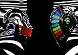 Poster Daft Punk SPEZIELLE MIROR DJ Music Wand Kunst