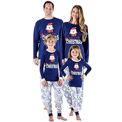 SAISAI Weihnachts Familien Schlafanzug Weihnachten Pyjamas Set Damen Herren Kinder...