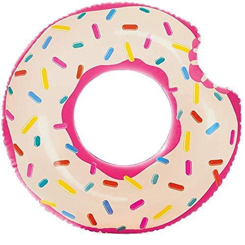 NDYD Piscina flotando Flotante Inflable Donut Piscina Piscina lecho Flotante DSB