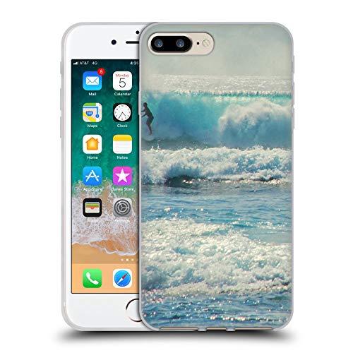 Head Case Designs Oficial Catspaws Surf-acing Nature & Colours Carcasa de Gel de Silicona Compatible con Apple iPhone 7 Plus/iPhone 8 Plus