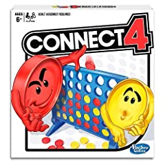 Classic Connect 4 game is disc dropping fun Choose yellow or red discs. For 2 players When you get 4 discs in a row you win Includes grid, 2 legs, slider bar, 21 red discs, 21 yellow discs and instructions