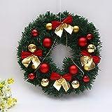 LSOPX 30CMのクリスマスの装飾サンタ・ガーランド花輪弓松葉ウォールラタン装飾を吊るします DIY (Color : Small Knot)