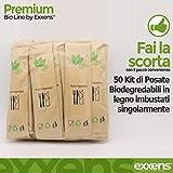 Zoom IMG-1 exxens set posate monouso biodegradabili