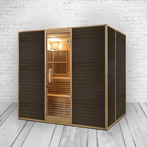 XXXL Luxus Infrarotsauna + Infrarotkabine Kombi SET Sauna inkl. Saunaofen 6 Personen inkl. Spedition