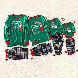 QNONAQ Navidad A Juego Pijamas Coincidencia de Navidad de la Familia Nueva Pijamas Set Padre Madre Hijo Hija de Ropa Muchacho de Las Muchachas mamá papá Pijamas Set bebé Rompe