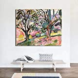 SIRIUSART Matisse Pintura de Paisaje Olivos Obra clásica Pintura en Lienzo Arte de...