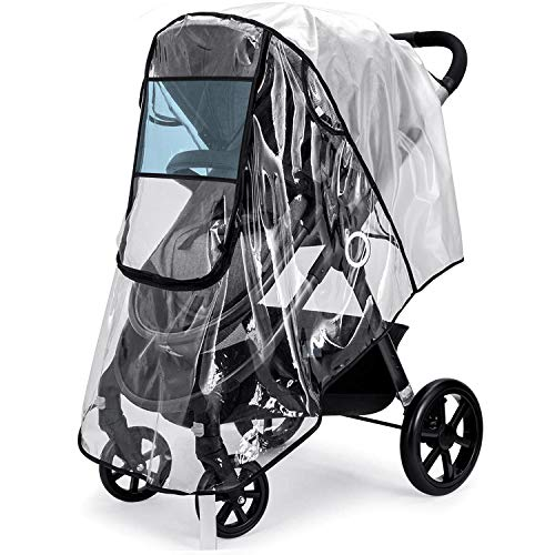 Stroller Rain Cover,Universal Stroller Accessory,Waterproof, Windproof Protection,Protect from Dust Snow,Baby Travel Weather Shield