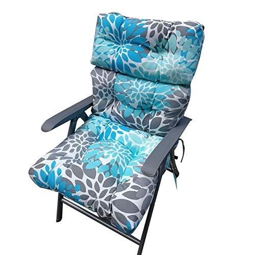 ZYN Cojín reclinable para bancos de interior y exterior, cojín largo para silla, perfecto para patio reclinable