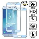 Guran [2 Paquete] Protector de Pantalla para Samsung Galaxy J5 2017 J530 / J5 Pro / J5 DUOS (2017) [Full Coverage] Vidrio Cristal Templado 100% Cobertura Completa Film - Azul Claro