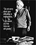 Close Up Albert Einstein Poster Do Not Worry (40cm x