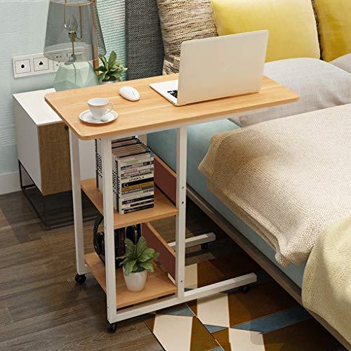FakeFace Computertisch mit Rollen Betttisch Laptop Tisch Schreibtisch Bett Sofa Beistelltisch Krankenhaus Betttisch Nachttisch Home Reading Desk Frühstückstisch 80cm