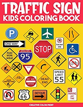 Traffic Sign  Traffic Sign Icon Symbol coloring and activity books for kids ages 4-8