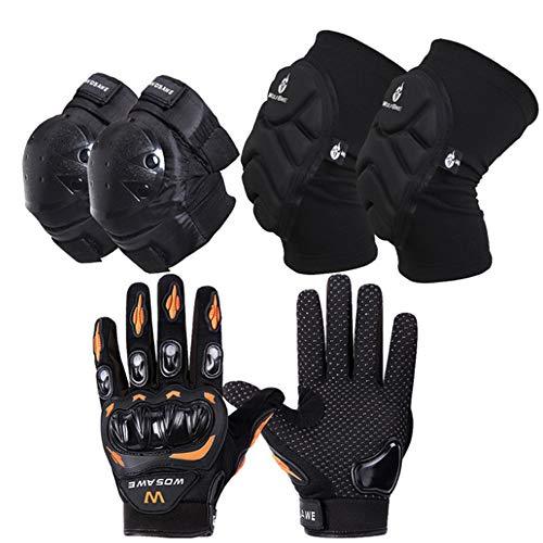 Beschermend materiaal, verstelbare breekbestendige handschoenen, kniebeschermers, elleboogsteun, dempingsdruk geschikt voor tieners, volwassenen, fietsen, MTB.