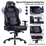 KILLABEE Big and Tall 400lb Memory Foam Gaming Chair - Adjustable Tilt, Back