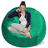 Sofa Sack - Plush Ultra Soft Bean Bags Chairs for Kids, Teens, Adults - Memory Foam Beanless Bag Chair with Microsuede Cover - Foam Filled Furniture for Dorm Room - Aqua Marine 5'