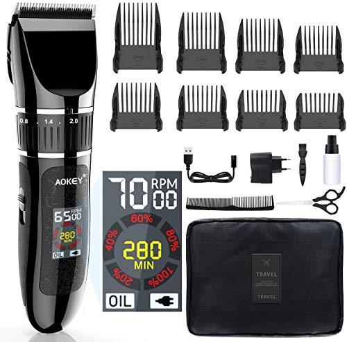Tagliacapelli Uomo Professionale, Hairclipper a Batteria di Precisione, Rasoio Elettrico Impermeabile per Baffi o Capelli, Hair Trimmer da Uomo e Ricaricabile USB