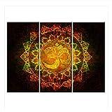XuFan Símbolo de Dioses hindúes Lienzo de Arte Pop Krishna Gods Pinturas de Lienzo en la Pared Imagen de hinduismo para decoración de Sala de estar-30x70cmX3 Sin Marco