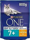 Purina One Croquettes au poulet et aux céréales pour chat sénior, 3kg (lot de 4...