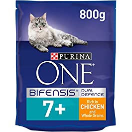 Purina ONE Senior 7+ Dry Cat Food Chicken 800g – Case of 4 (3.2kg)