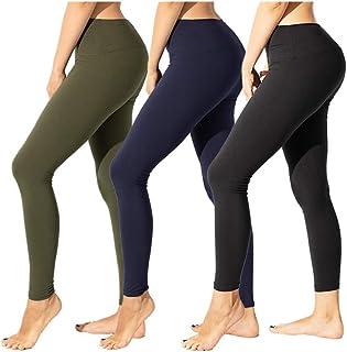 TNNZEET High Waisted Leggings for Women Girl Athletic Plus Size Yoga Pants Tummy Control Full Length Tight Elastic