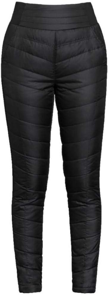 ZQSB Pantalon en Duvet en Coton Taille Haute pour Femme, vêtements extérieurs, Chaleur épaisse, Pantalon Double Face Plus Velours, Taille Plus Slim Minceur Hiver Dames-Rouge_L Noir