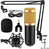 Bulfyss Combo of BM 800 Professional Condenser Microphone with 3.5 mm Audio Jack