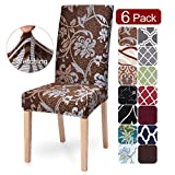 SearchI Dining Room Chair Covers Slipcovers Set of 6, Spandex Fabric Fit Stretch...