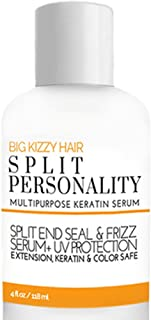 Big Kizzy Split Personality- Keratin Infused Split End Seal & Frizz Serum, Weightless Cuticle Seal and UV Protectant, Keratin Treatment safe, Strengthens and Nourishes.