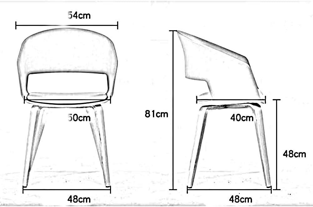 WFF Chaise de Bureau Chaise Style Nordique Montage Facile Bureau en Bois courbé Craft Soft Seat Restaurant (Color : White) White